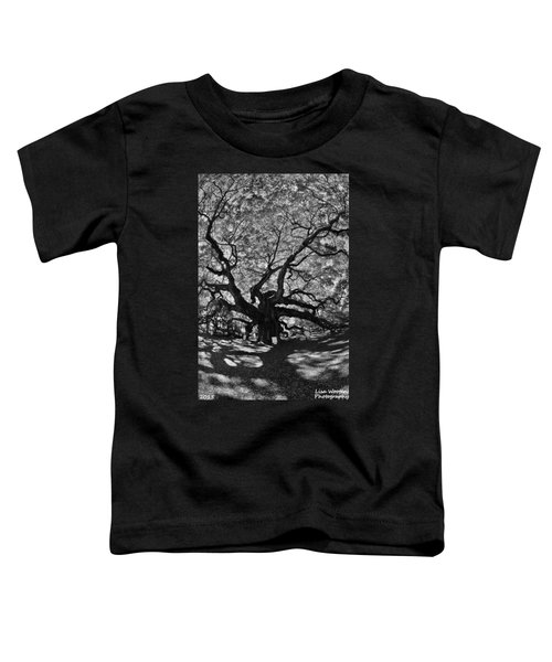 Angel Oak Johns Island Black And White Toddler T-Shirt