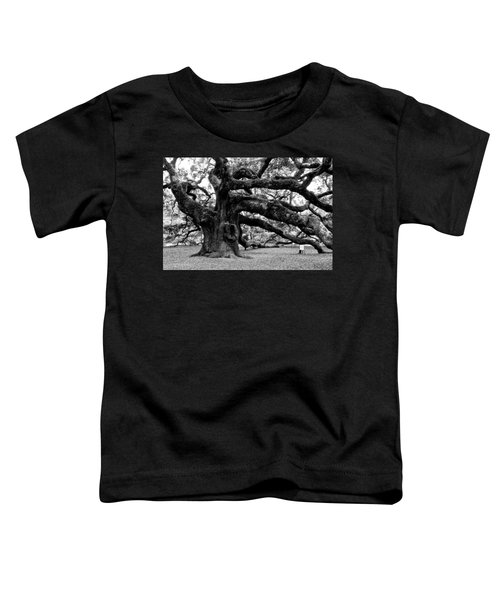 Angel Oak Tree 2009 Black And White Toddler T-Shirt