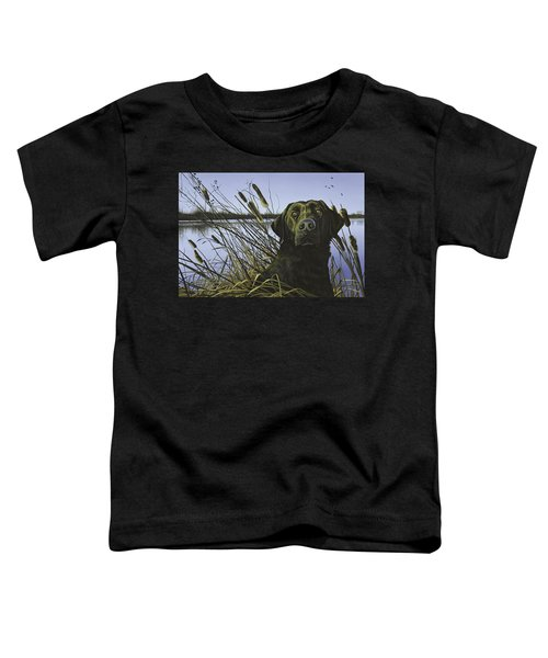 Anticipation - Black Lab Toddler T-Shirt