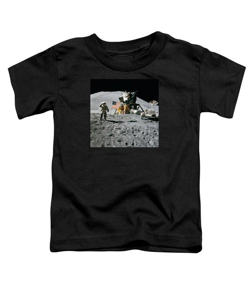 Apollo 15 Lunar Module Pilot James Irwin Salutes The U.s. Flag Toddler T-Shirt