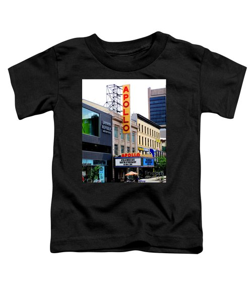 Apollo Theater Toddler T-Shirt by Randall Weidner