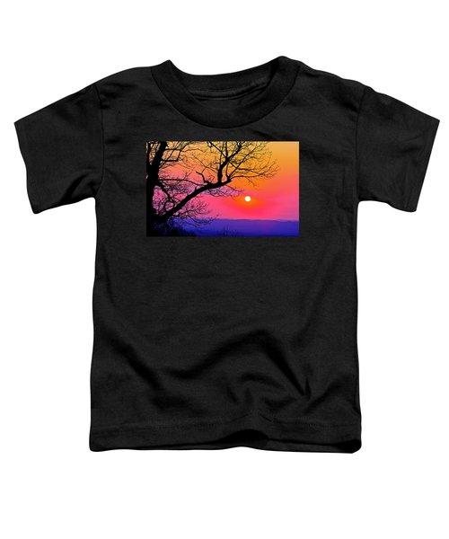 Appalcahian Sunset Tree Silhouette  #1 Toddler T-Shirt