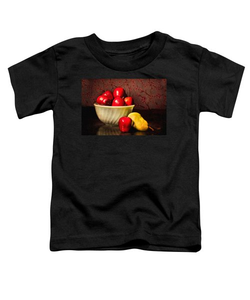 Apples In Bowl With Pear Toddler T-Shirt