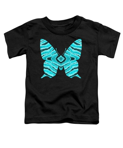 Aqua Blue Butterfly  Toddler T-Shirt