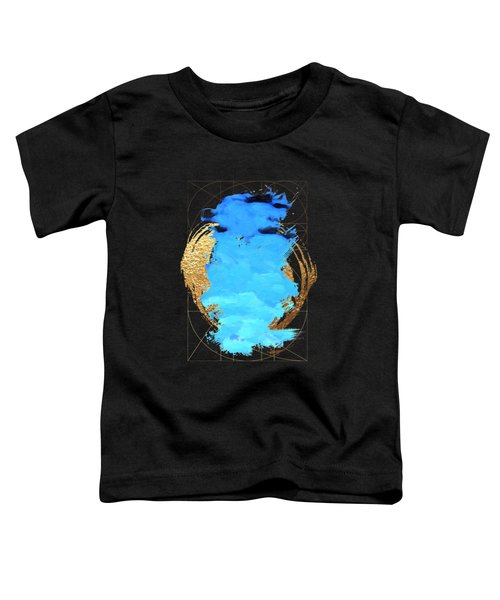 Aqua Gold No. 1 Toddler T-Shirt by Serge Averbukh