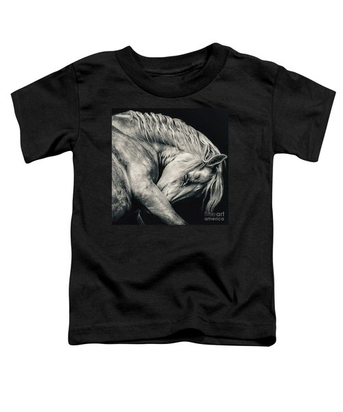 Arabian Beauty White Horse Portrait Toddler T-Shirt