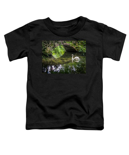 Toddler T-Shirt featuring the photograph Arched Bridge And Swan At Doneraile Park by James Truett