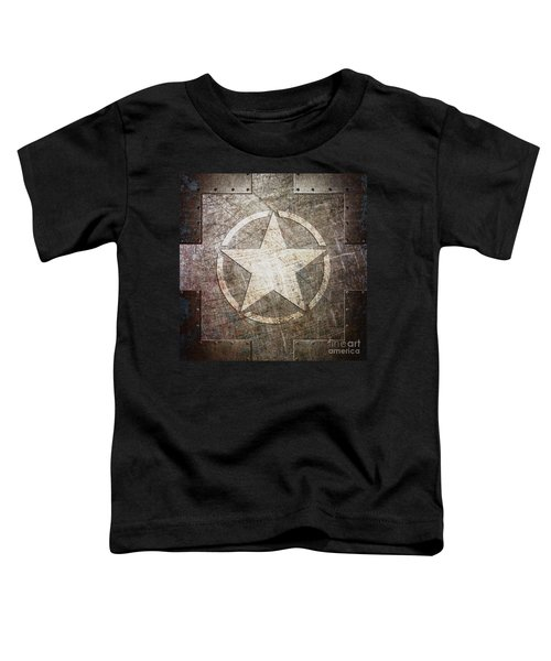 Army Star On Steel Toddler T-Shirt