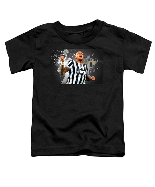 Arturo Vidal Toddler T-Shirt by Semih Yurdabak