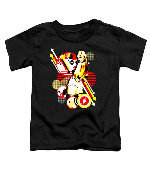 Striptease Toddler T-Shirt by Chris Andruskiewicz