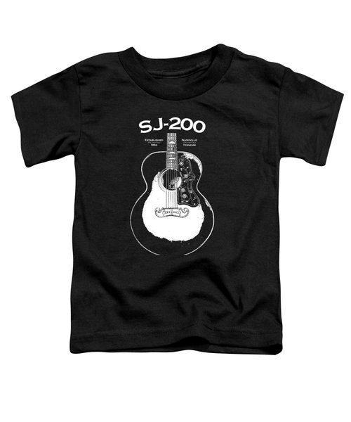 Gibson Sj-200 1948 Toddler T-Shirt by Mark Rogan
