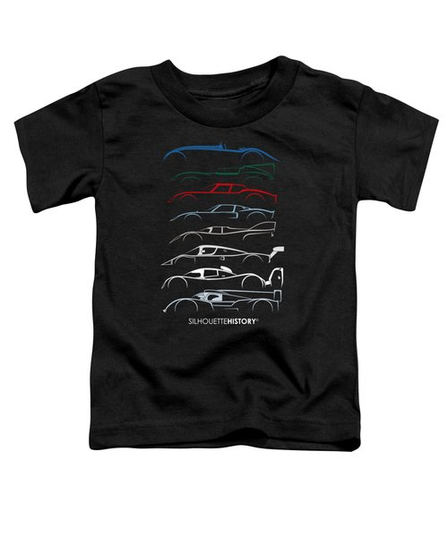 24 Hours Race Cars Silhouettehistory Toddler T-Shirt
