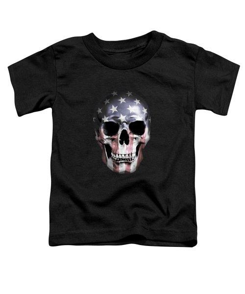 American Skull Toddler T-Shirt by Nicklas Gustafsson