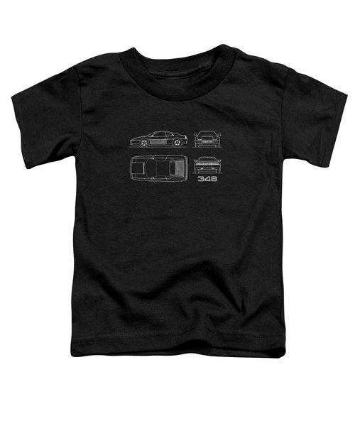 Ferrari 348 Blueprint Toddler T-Shirt