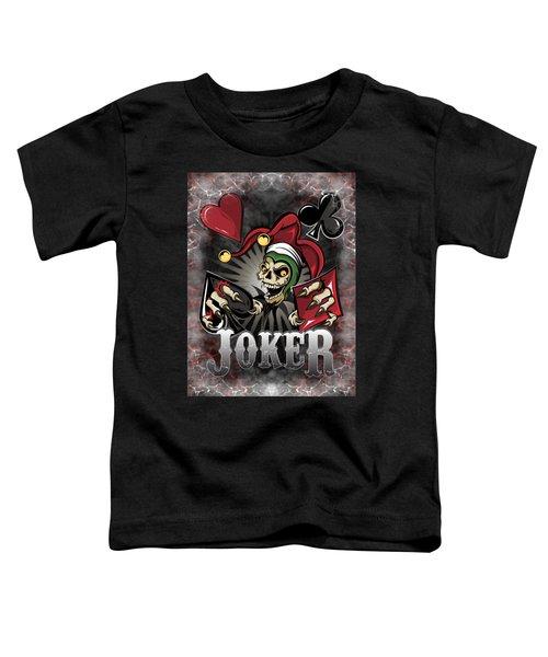 Joker Poker Skull Toddler T-Shirt