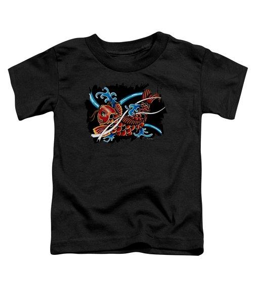 Asian Koi Toddler T-Shirt by Maria Arango