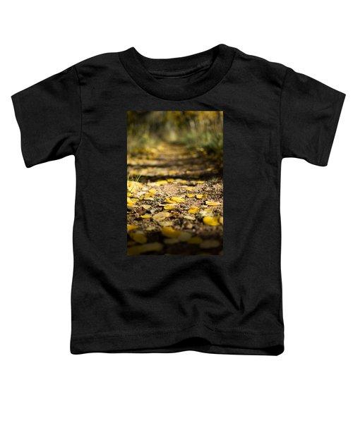 Aspen Leaves On Trail Toddler T-Shirt