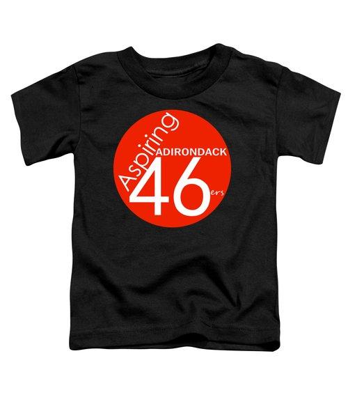 Aspiring Adirondack 46ers Trail Marker Toddler T-Shirt by Michael French