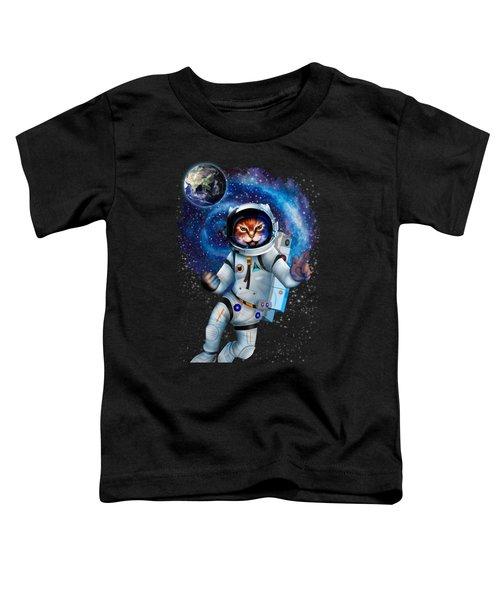 Astronaut Cat Toddler T-Shirt