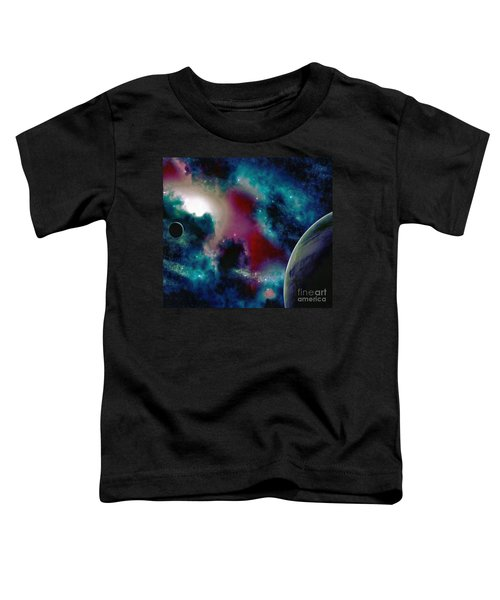 Astronomy Painting Glammed Out Teal Toddler T-Shirt