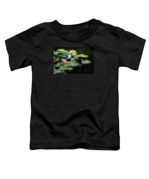 Toddler T-Shirt featuring the photograph At Claude Monet's Water Garden 11 by Dubi Roman