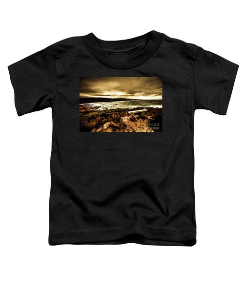 Atmospheric Beach Artwork Toddler T-Shirt