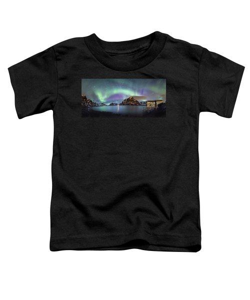 Aurora Above Reinefjord Toddler T-Shirt