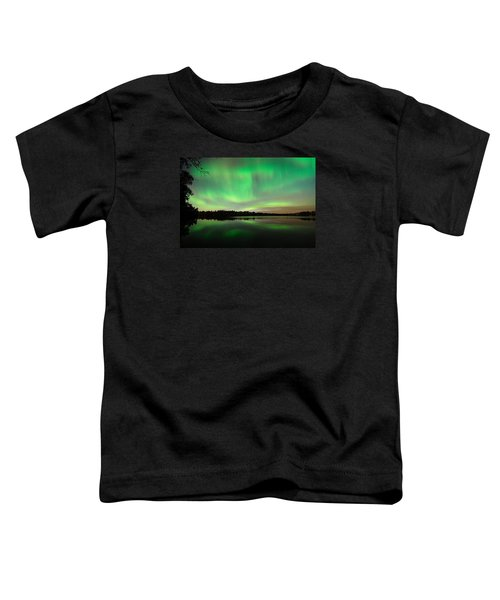 Aurora Over Tofte Lake Toddler T-Shirt
