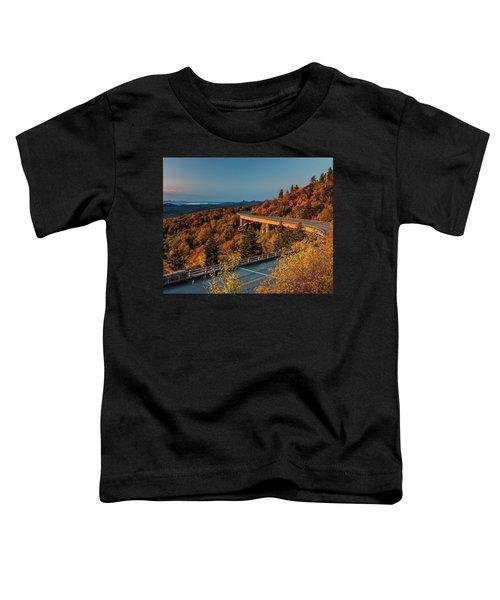 Morning Sun Light - Autumn Linn Cove Viaduct Fall Foliage Toddler T-Shirt
