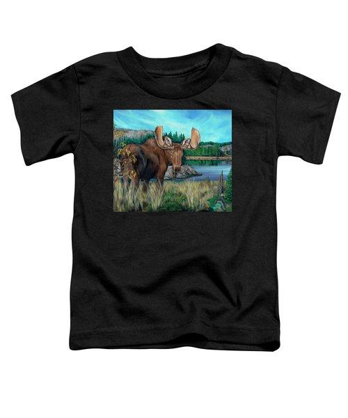 Autumn Moose Toddler T-Shirt