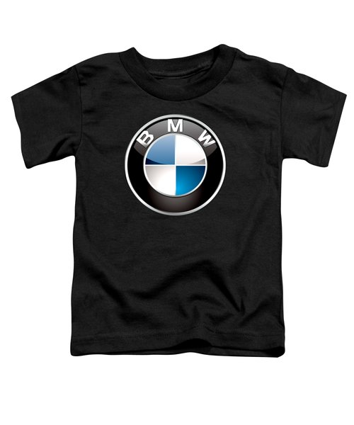 B M W  3 D Badge On Black Toddler T-Shirt
