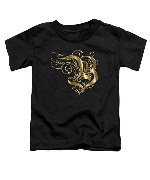 B Ornamental Letter Gold Typography Toddler T-Shirt