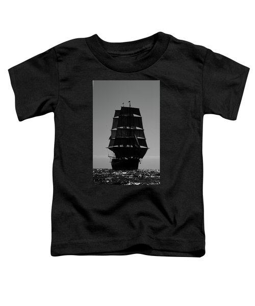 Back Lit Tall Ship Toddler T-Shirt