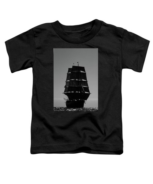 Back Lit Tall Ship Toddler T-Shirt