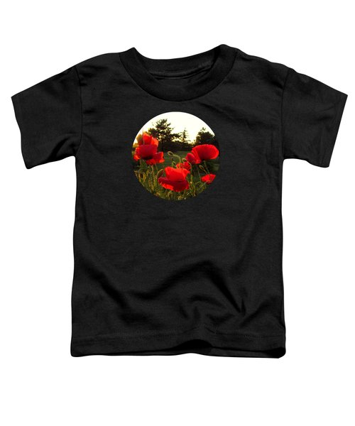 Backlit Red Poppies Toddler T-Shirt