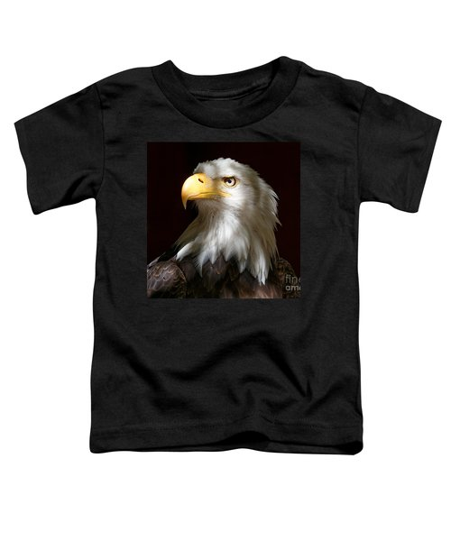 Bald Eagle Closeup Portrait Toddler T-Shirt