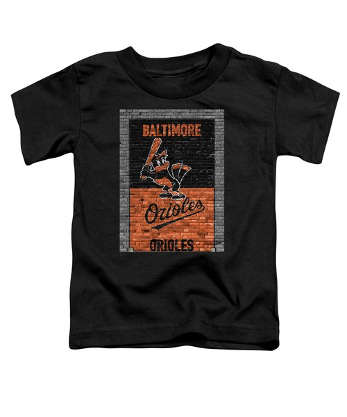 Baltimore Orioles Brick Wall Toddler T-Shirt by Joe Hamilton