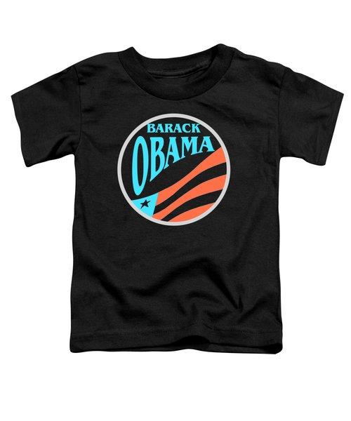 Barack Obama - Tshirt Design Toddler T-Shirt by Art America Online Gallery