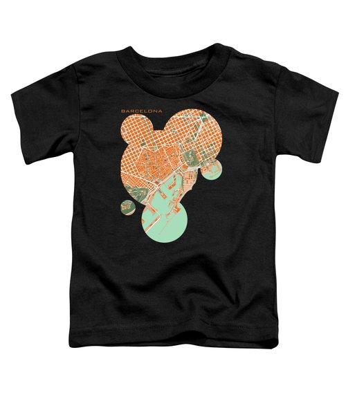 Barcelona Orange Toddler T-Shirt by Jasone Ayerbe- Javier R Recco