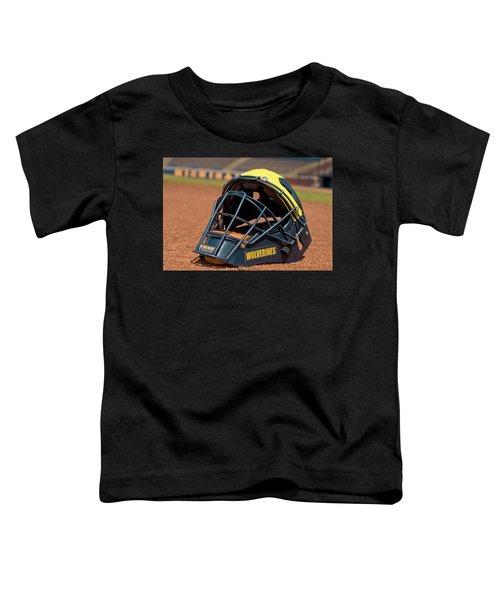 Baseball Catcher Helmet Toddler T-Shirt