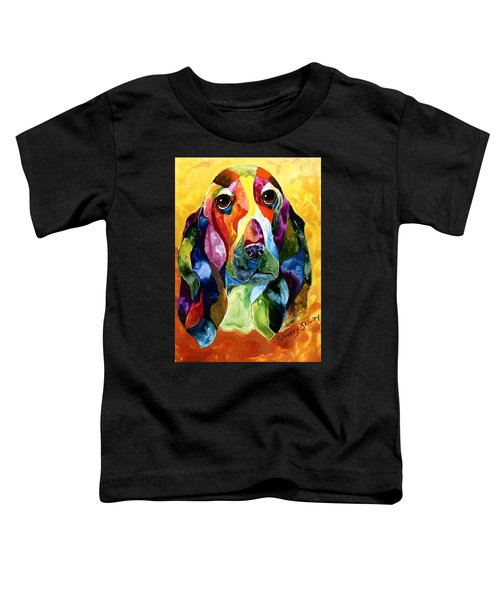 Basset Hound Blues Toddler T-Shirt