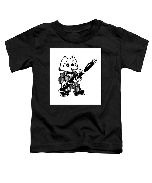 Bassoon Cat Toddler T-Shirt