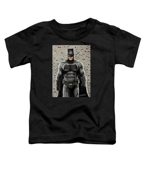 Batman Ben Affleck Toddler T-Shirt by David Dias