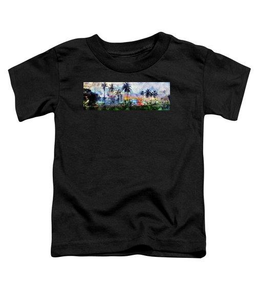 Beautiful South Beach Watercolor Toddler T-Shirt by Jon Neidert
