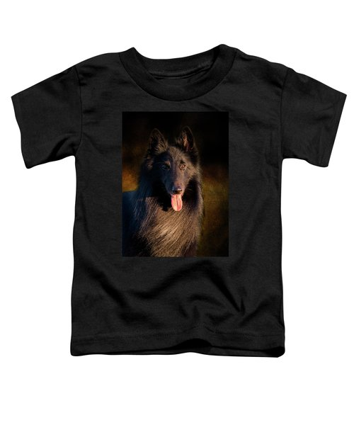 Belgian Groenendael Portrait Toddler T-Shirt