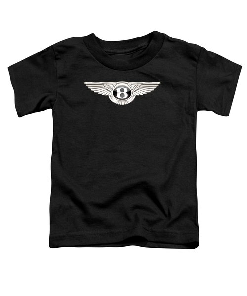Bentley - 3 D Badge On Black Toddler T-Shirt by Serge Averbukh