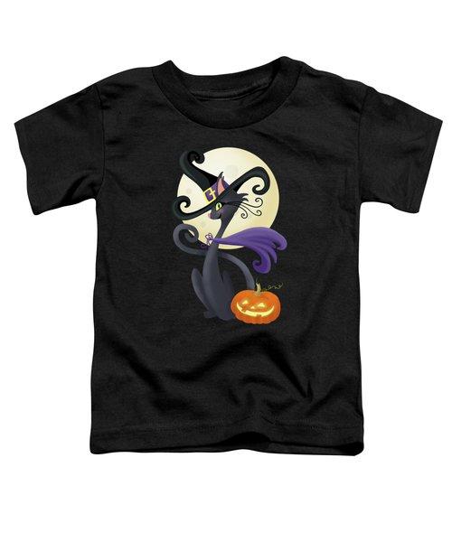 Bewitching Halloween Black Cat Toddler T-Shirt