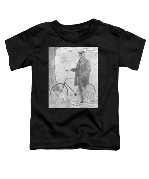 Bicycle And Jd Rockefeller Vintage Photo Art Toddler T-Shirt