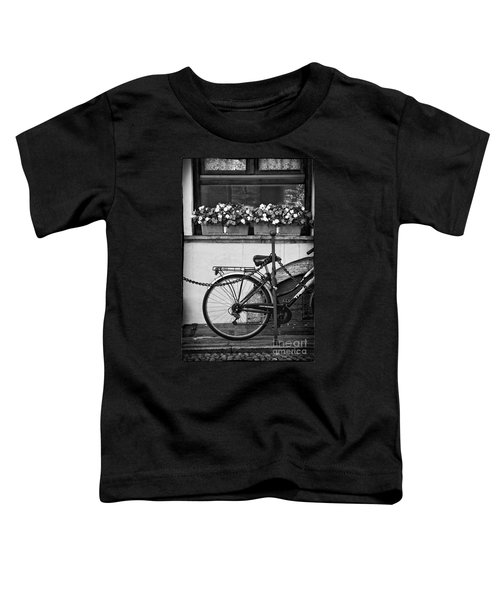 Bicycle With Flowers Toddler T-Shirt by Silvia Ganora