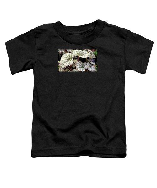 Big Begonia Leaves Toddler T-Shirt by Nareeta Martin
